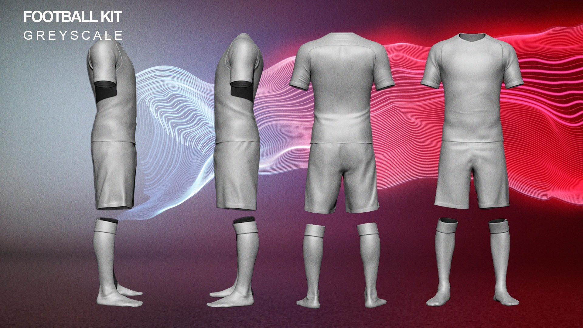 CGI modeling of a nike england football kit 2016