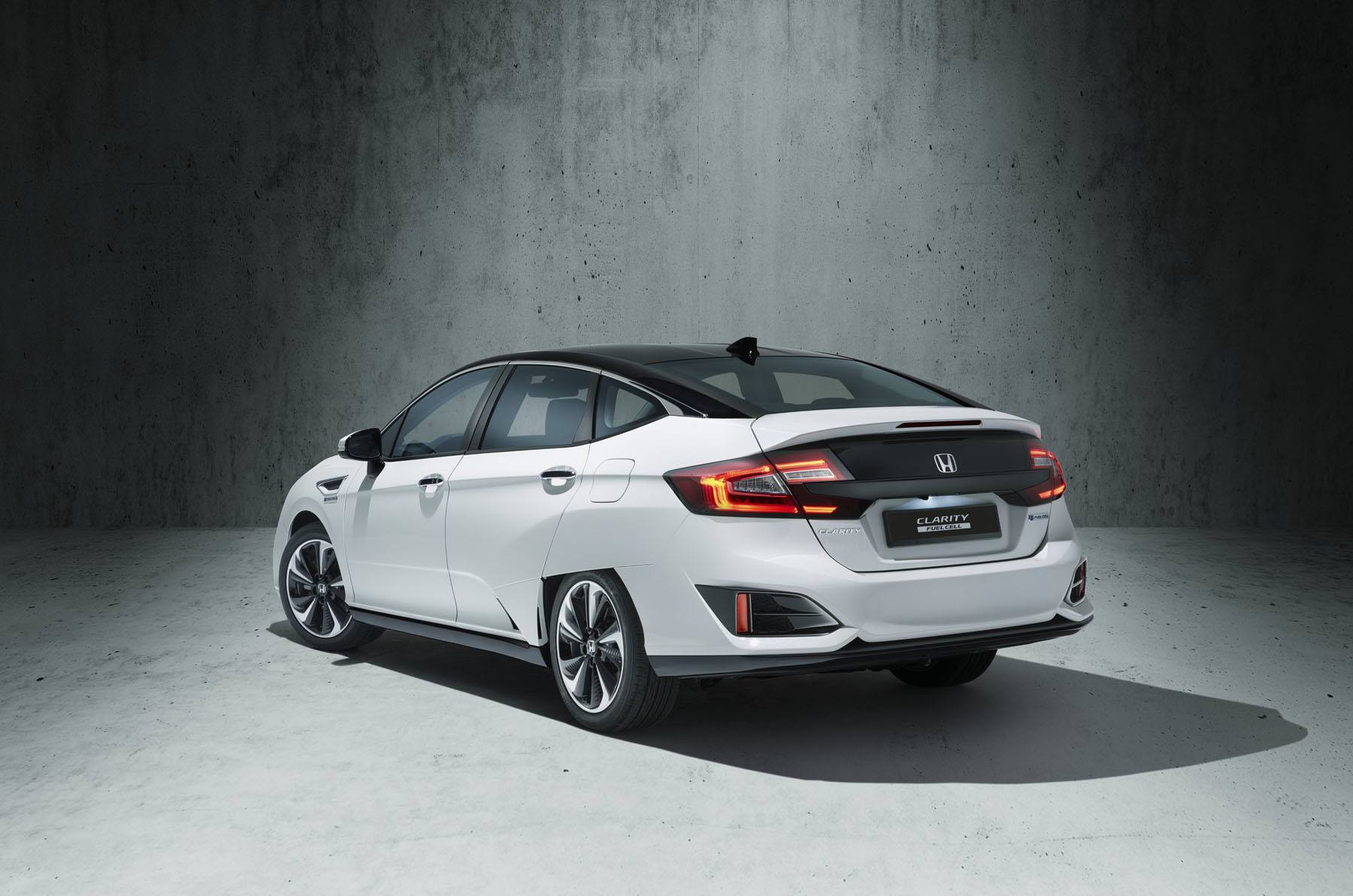 Honda clarity car in front of CGI concrete environment