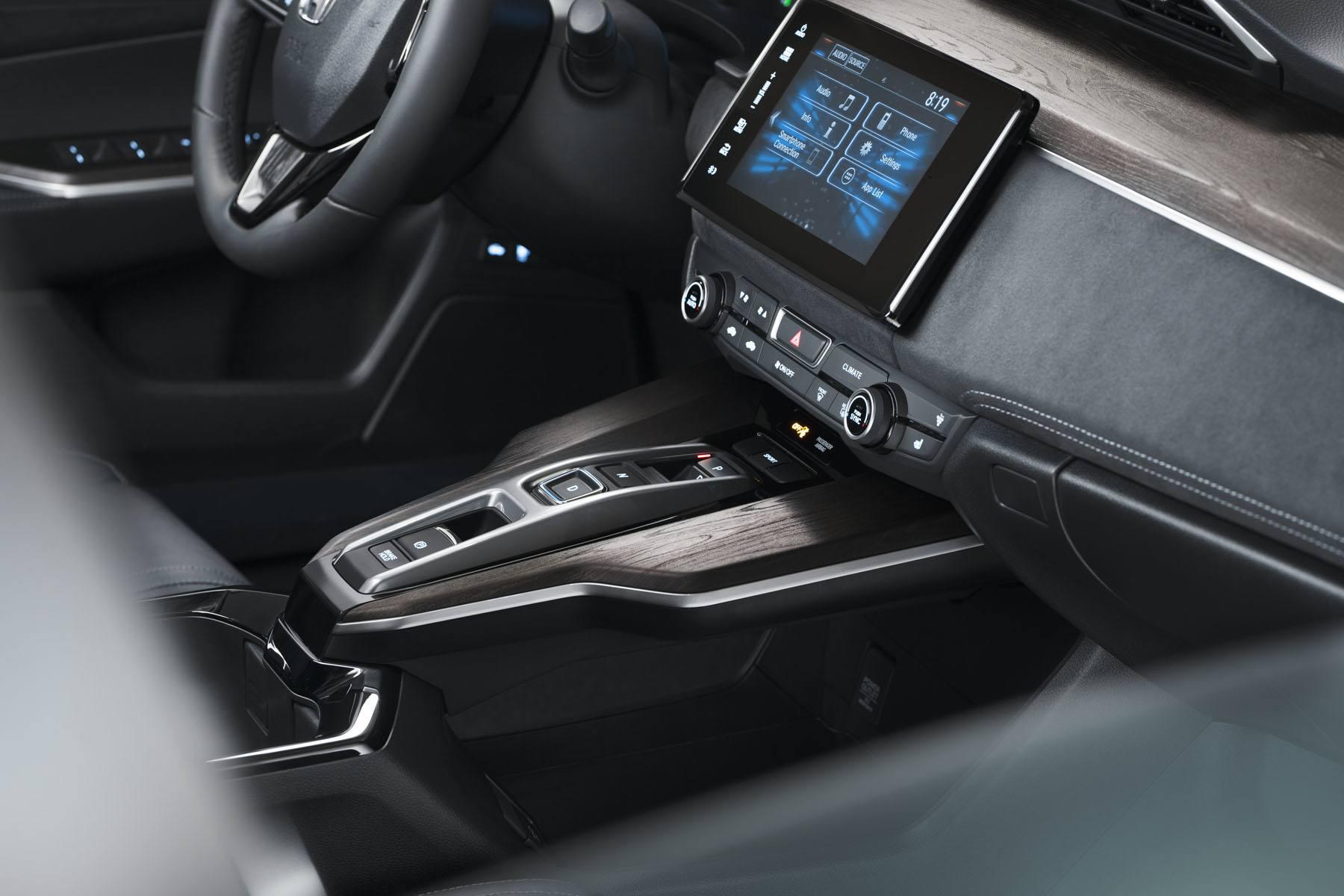 interior view inside a Honda Clarity car