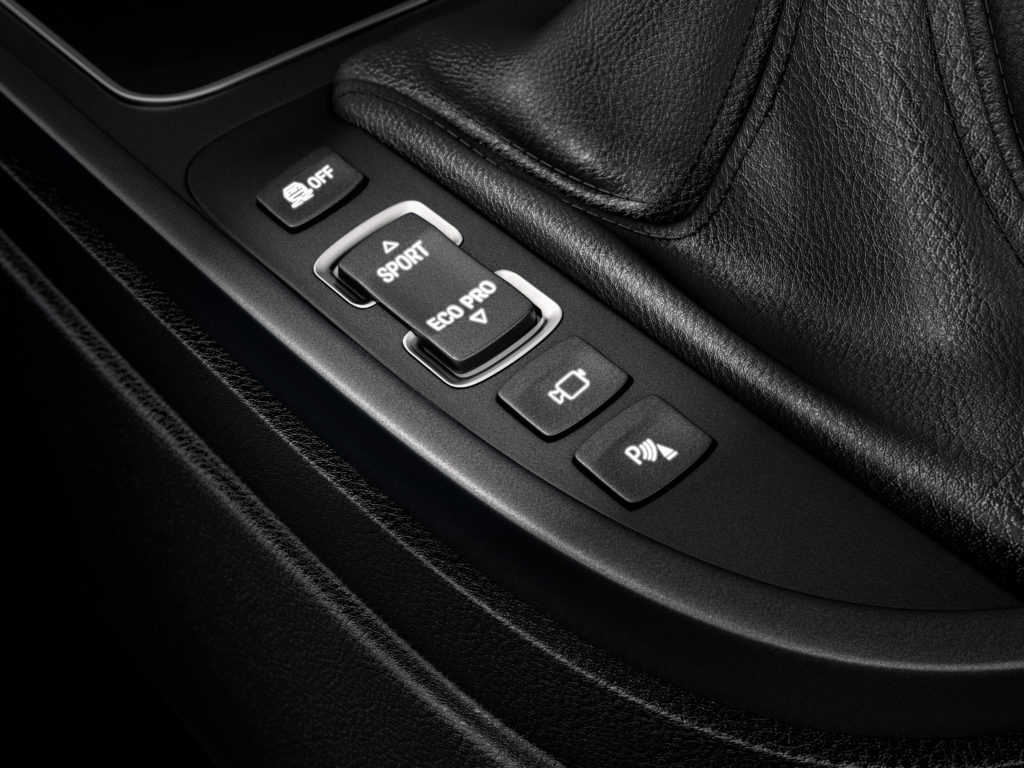cgi illustration of a close up view of a bmw car buttons