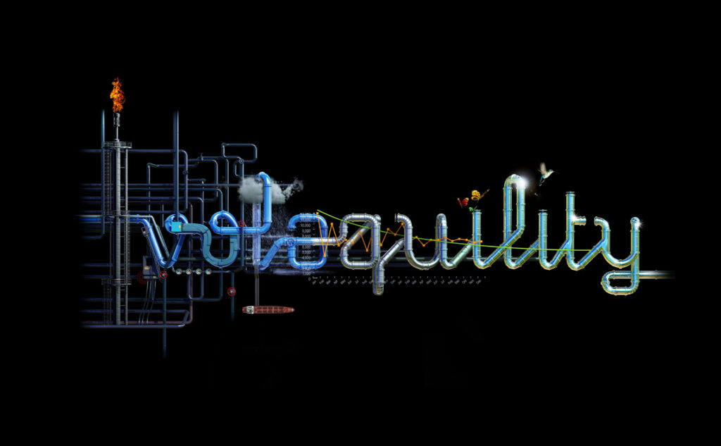 typography made out of metal pipes