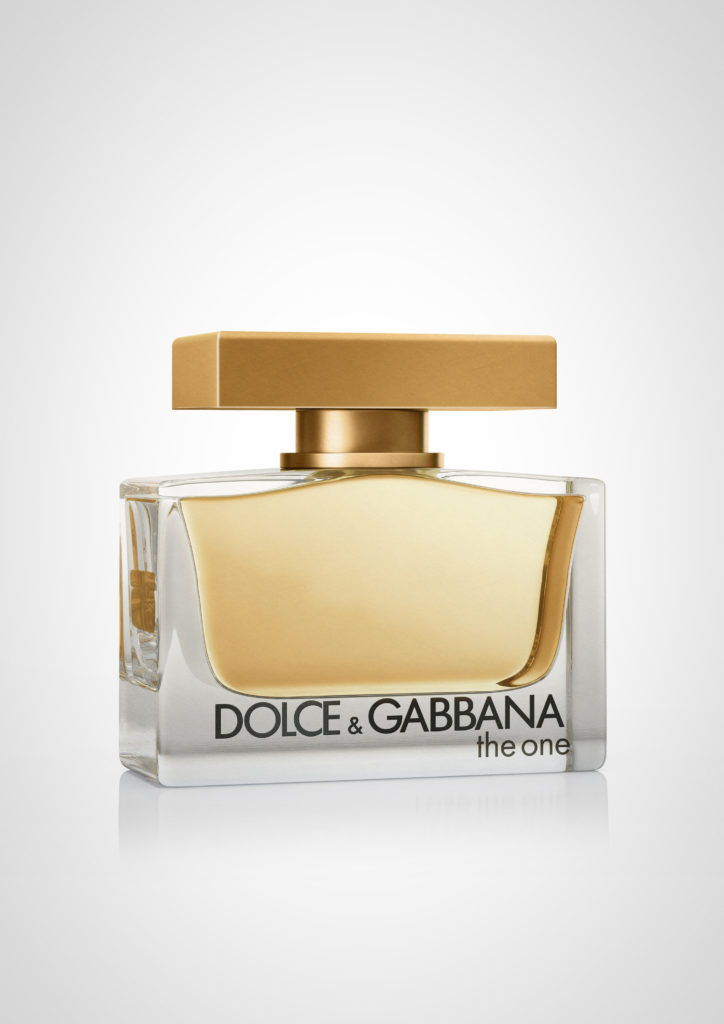 cgi illustration of a D & G the one female perfume on a white background