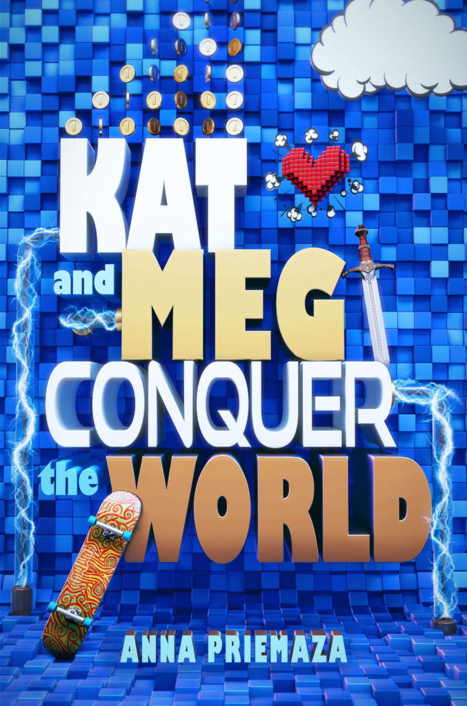 cgi artwork of a book cover of Kat and Meg Conquer the world