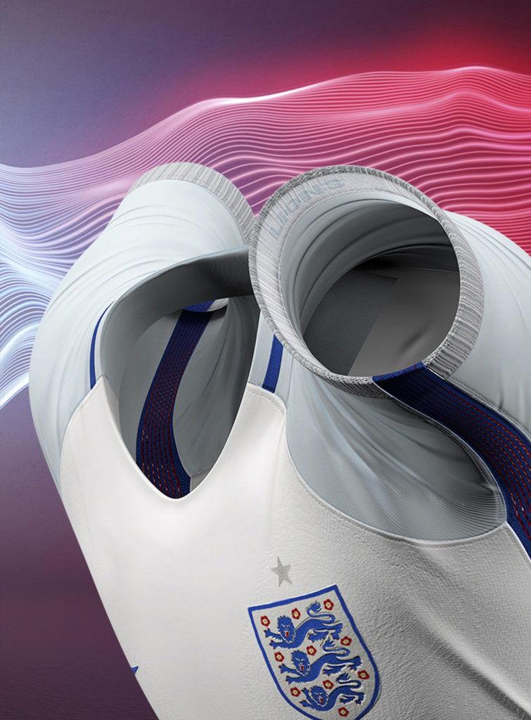 cgi model view of a nike england football shirt