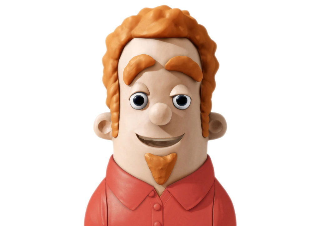 cgi ilustration of a claymation hotels.com character