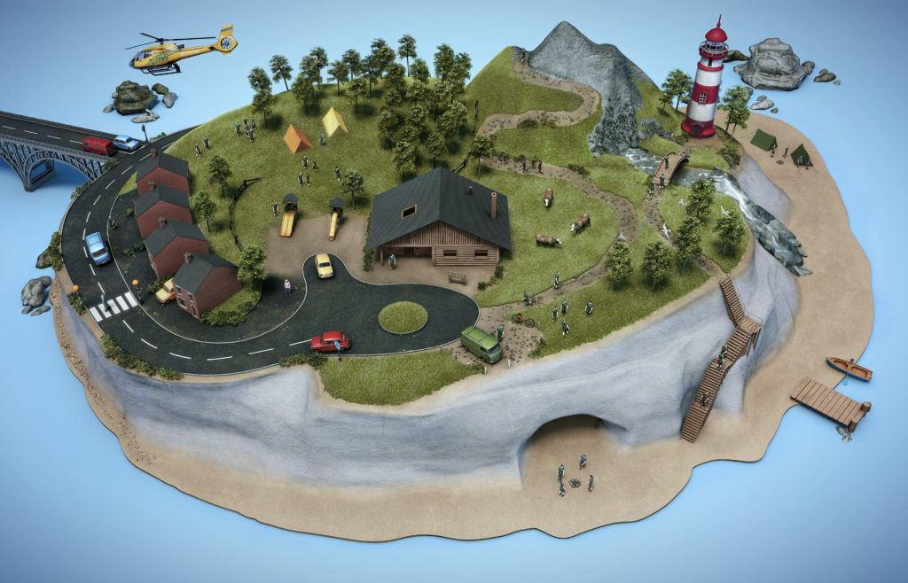cgi model scout island