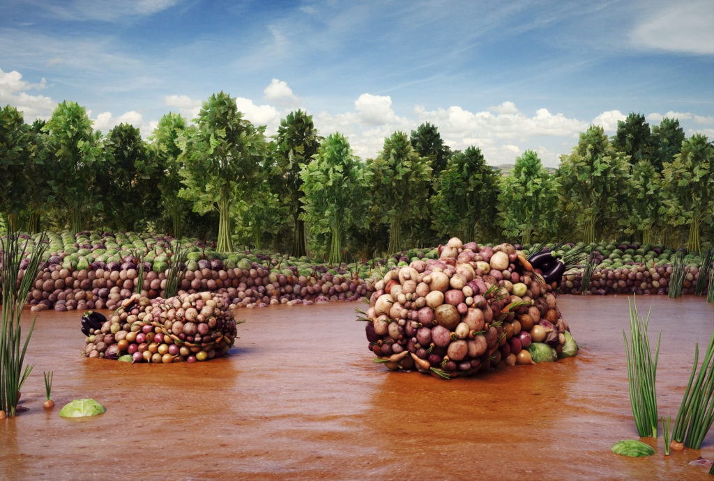 cgi vegetable hippos in river of gravy
