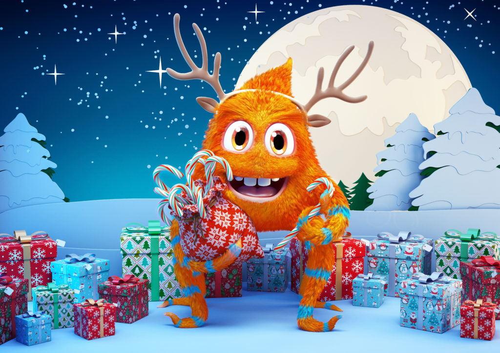 boom cgi orange furry monster cgi illustration